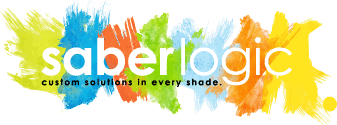 A picture of the Saberlogic company logo