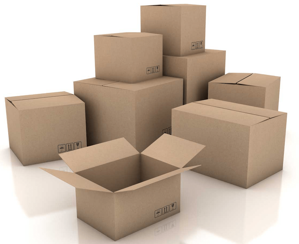a picture of a stack of boxes with one open and seemingly empty.