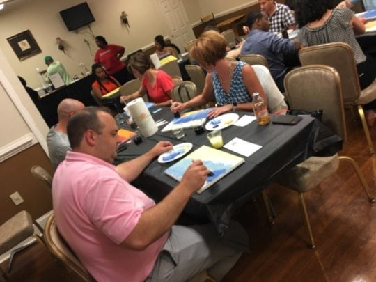 An image of Encompass Solutions, Inc. New York ERP Consultants at Paint Night In Greensboro, NC.