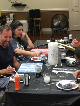 An image of Encompass Solutions, Inc. North Carolina ERP Consultants at Paint Night In Greensboro, NC.