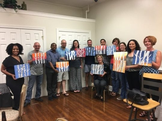 An image of Encompass Solutions, Inc. North Carolina ERP Consultants showing off their work at Paint Night In Greensboro, NC.